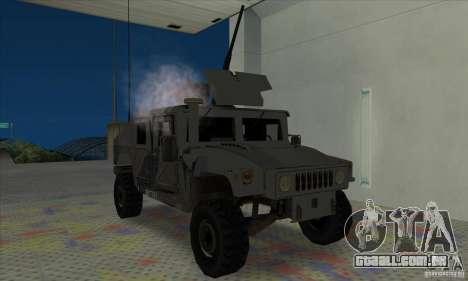 Humvee of Mexican Army para GTA San Andreas esquerda vista