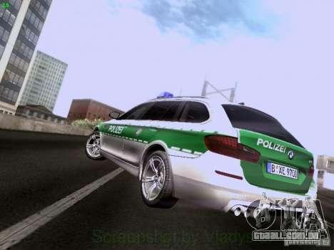 BMW M5 Touring Polizei para GTA San Andreas traseira esquerda vista