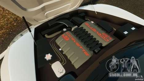Chevrolet Corvette C6 2010 Convertible para GTA 4 vista interior