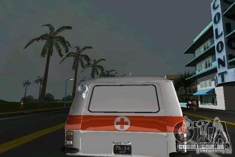 RAF-22031 ambulância para GTA Vice City vista direita
