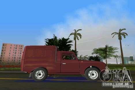 IZH 2715 para GTA Vice City vista traseira esquerda