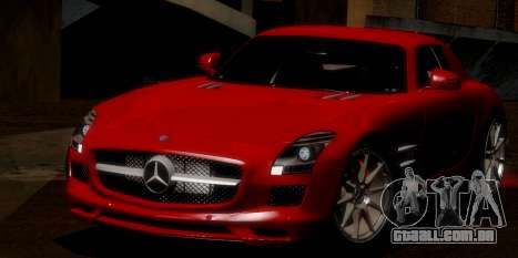 Mercedes-Benz SLS AMG 2010 para GTA San Andreas vista inferior