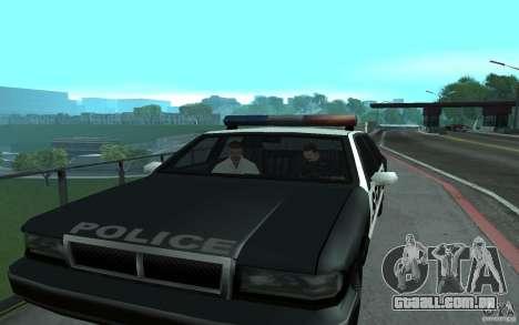 Polícia na ponte, San Fierro para GTA San Andreas por diante tela