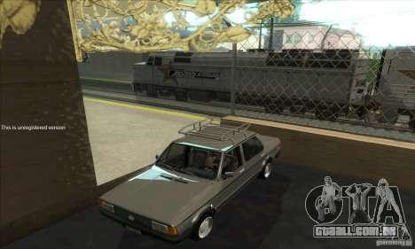 Volkswagen Jetta MK1 para GTA San Andreas vista interior