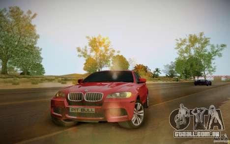 BMW X6 v1.1 para GTA San Andreas traseira esquerda vista