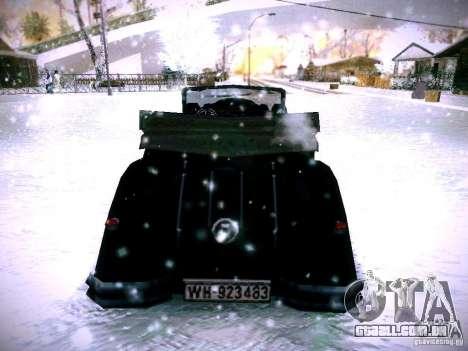 Carros por trás do jogo de linhas inimigas 2 para GTA San Andreas traseira esquerda vista