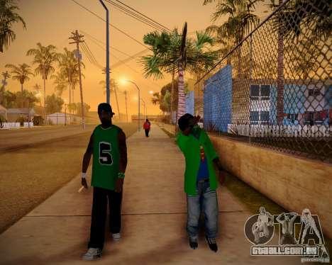 Skins pack gang Grove para GTA San Andreas terceira tela
