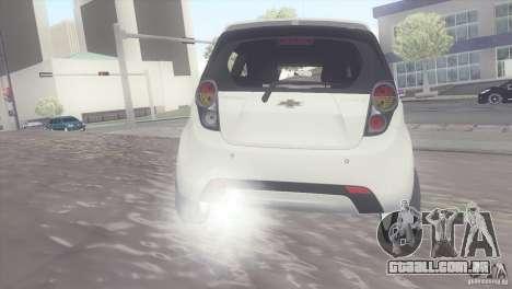 Chevrolet Spark 2011 para GTA San Andreas traseira esquerda vista