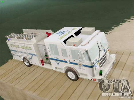 Pierce Pumpers. B.C.F.D. FIRE-EMS para GTA San Andreas vista traseira