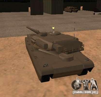 A Minigun no tanque para GTA San Andreas segunda tela