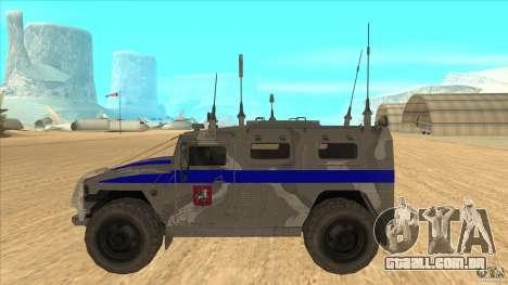 GÁS-23034 SPM-1 tigre para GTA San Andreas esquerda vista