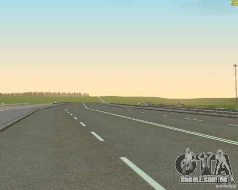 Terminou a construção da estrada para a Rússia d para GTA San Andreas quinto tela
