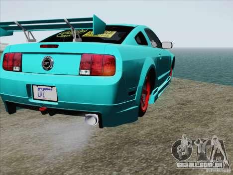 Ford Mustang GT Lowlife para GTA San Andreas vista superior