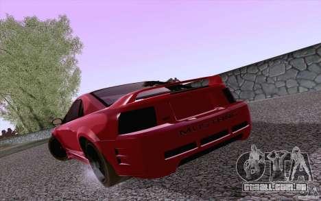 Ford Mustang SVT Cobra 2003 Black wheels para GTA San Andreas vista direita