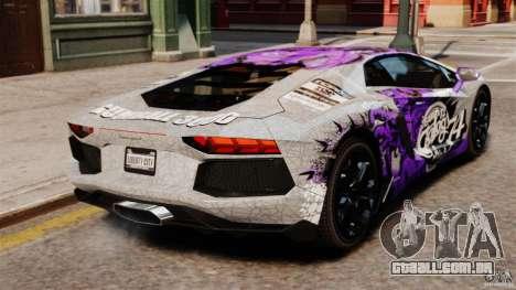 Lamborghini Aventador LP700-4 2012 Galag Gumball para GTA 4 traseira esquerda vista