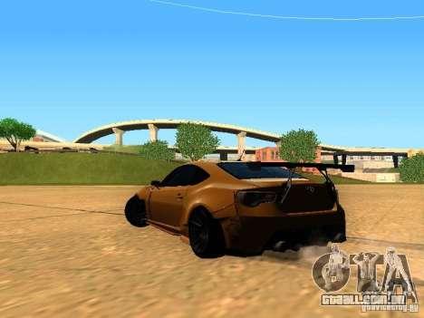 Toyota FT86 Rocket Bunny V2 para GTA San Andreas traseira esquerda vista