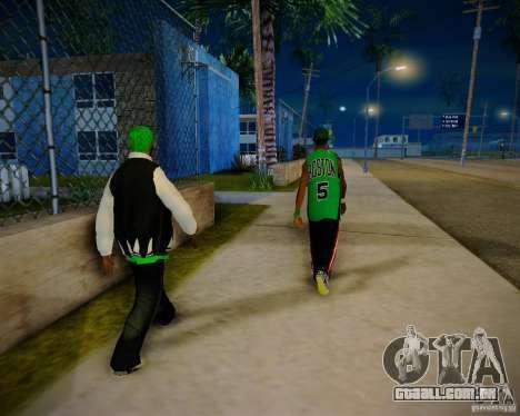 Skins pack gang Grove para GTA San Andreas sexta tela