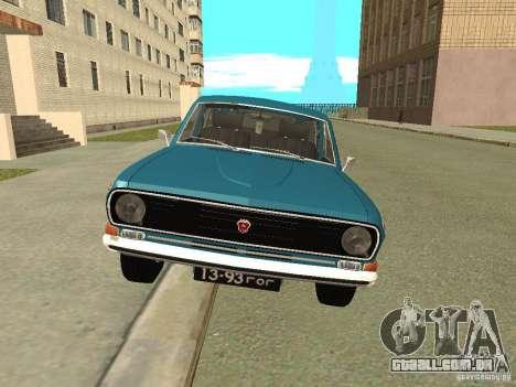 Volga GAZ 24-12 para GTA San Andreas traseira esquerda vista