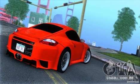 Porsche Cayman S v2 para GTA San Andreas vista direita