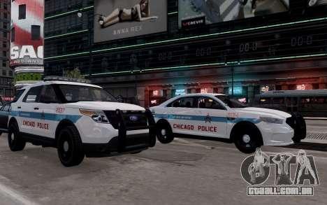 Ford Explorer Chicago Police 2013 para GTA 4 vista direita