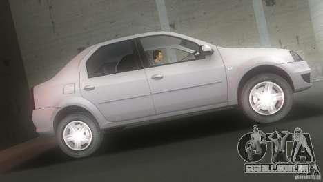 Dacia Logan para GTA Vice City deixou vista