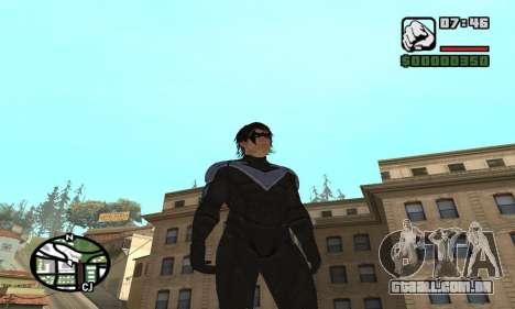 Nightwing skin para GTA San Andreas segunda tela