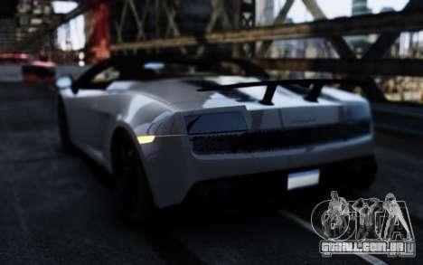 Lamborghini Gallardo LP570-4 Spyder para GTA 4 traseira esquerda vista