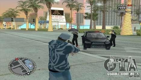 HUD ultra moderno para GTA San Andreas por diante tela