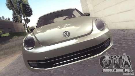 Volkswagen Beetle Turbo 2012 para GTA San Andreas vista traseira