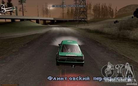 Nova fonte para GTA San Andreas quinto tela