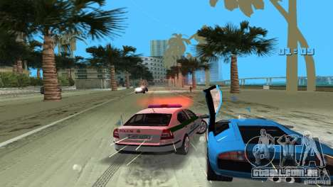 Skoda Octavia 2005 para GTA Vice City vista interior