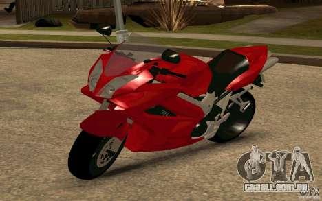 Honda VTR 2003 para GTA San Andreas traseira esquerda vista