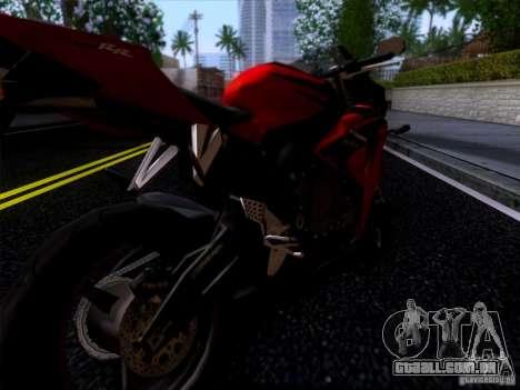 Honda CBR 600 RR para GTA San Andreas traseira esquerda vista