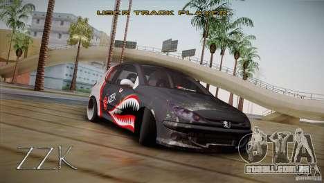 Peugeot 206 Shark Edition para GTA San Andreas traseira esquerda vista