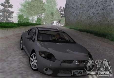 Mitsubishi Eclipse GT V6 para GTA San Andreas traseira esquerda vista