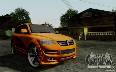 Volkswagen Touareg R50 Light para GTA San Andreas vista interior