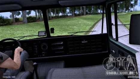 Escola de condução do caminhão para GTA San Andreas vista direita