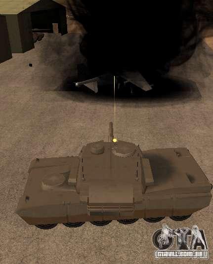 A Minigun no tanque para GTA San Andreas terceira tela