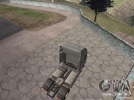 Iveco Stralis GTS para GTA San Andreas traseira esquerda vista