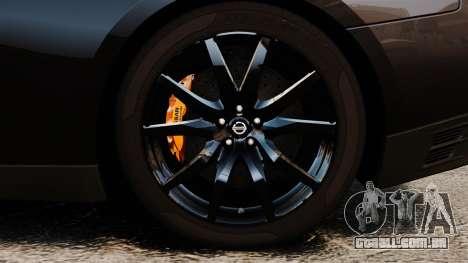 Nissan GT-R Black Edition (R35) 2012 para GTA 4 vista de volta