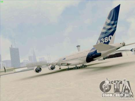 Airbus A380-800 para GTA San Andreas esquerda vista