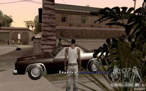 Nova fonte para GTA San Andreas sétima tela