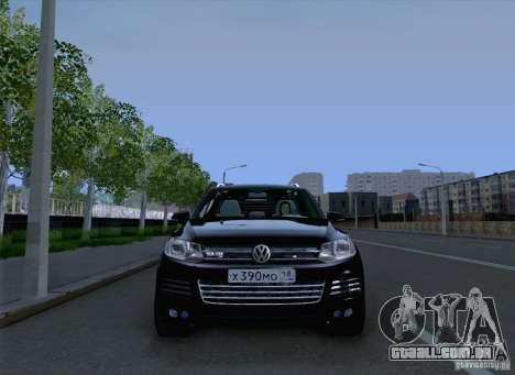 Volkswagen Touareg 2012 para GTA San Andreas vista traseira