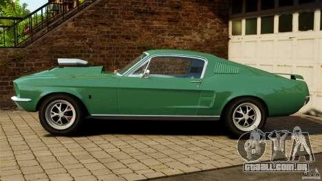 Ford Mustang 1967 para GTA 4 esquerda vista