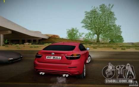 BMW X6 v1.1 para GTA San Andreas vista direita