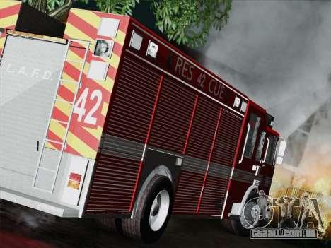 Pierce Contender LAFD Rescue 42 para GTA San Andreas vista direita