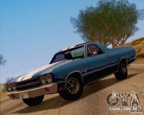 Chevrolet EL Camino SS 70 para GTA San Andreas vista traseira