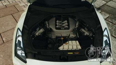 Nissan GT-R 2012 Black Edition para GTA 4 vista superior