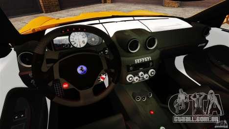 Ferrari 599 GTO 2011 para GTA 4 vista de volta