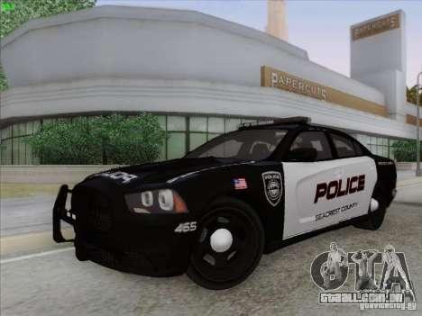Dodge Charger 2012 Police para GTA San Andreas vista interior